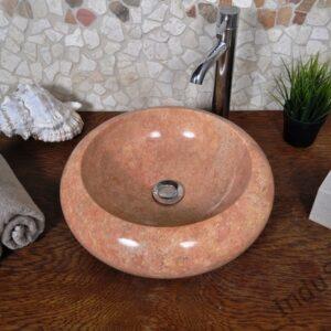 InduStone umywalka kamienna nablatowa DONAT RED