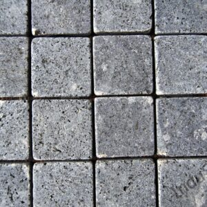InduStone Mozaika Kamienna na siatce BLACK SQUARE czarna kostka 5×5