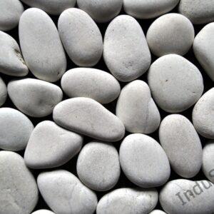 InduStone Mozaika Kamienna na siatce WHITE INTERLOCK XL białe otoczaki 30×30