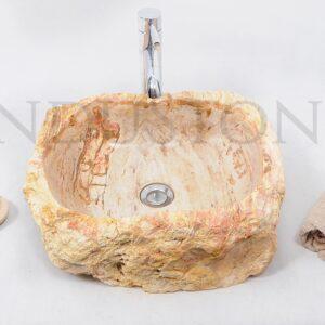 InduStone kamienna umywalka nablatowa FOSSIL WOOD 40 D