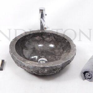 InduStone kamienna umywalka nablatowa KC-FMA GREY A 40 cm