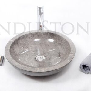 InduStone kamienna umywalka nablatowa KC-P GREY B 45 cm