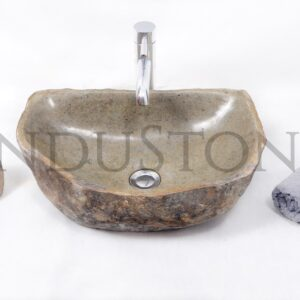 InduStone kamienna umywalka nablatowa RIVER STONE RSB2 F