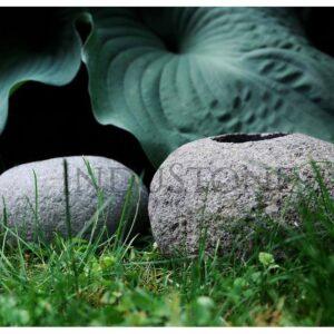 InduStone RIVER STONE świecznik z kamienia rzecznego z Indonezji