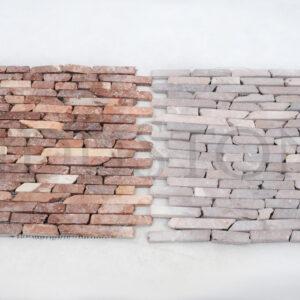 InduStone mozaika kamienna na siatce COCO BROWN INTERLOCK brązowe PASKI CALI