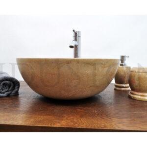 InduStone kamienna umywalka nablatowa KC-P RED C 40 cm