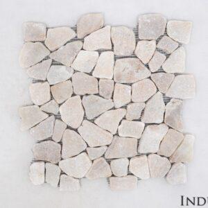 ONYX INTERLOCK bursztynowa ŁAMANA mozaika kamienna na siatce INDUSTONE