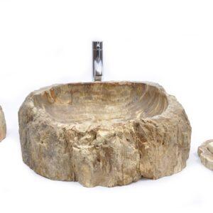 FOSSIL WOOD 40 F kamienna umywalka nablatowa INDUSTONE