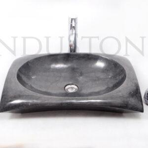 RCTK-P BLACK A 60×40 cm kamienna umywalka nablatowa INDUSTONE